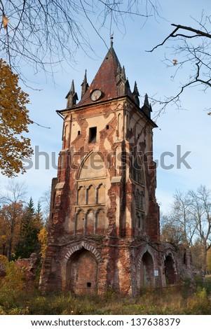 Chapelle in Alexander`s park in Tsarskoe Selo (Pushkin), Saint Petersburg, Russia - stock photo