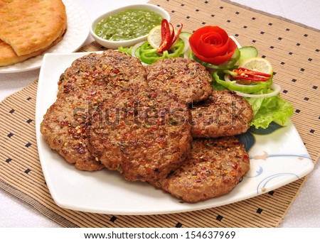 Chapli Kabab-2 - stock photo