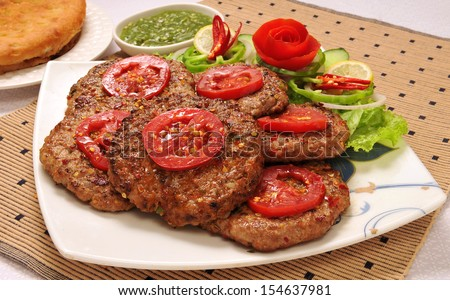 Chapli Kabab-9 - stock photo