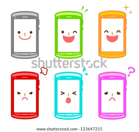 Character for mobile - stock photo