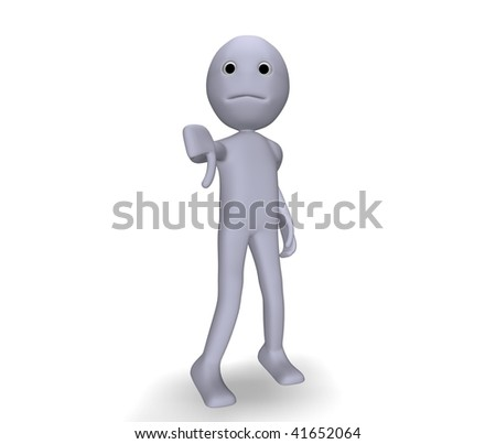 character in denial - stock photo