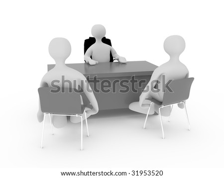character interview - stock photo