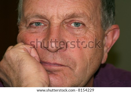 Character shot of a middle-aged man. - stock photo