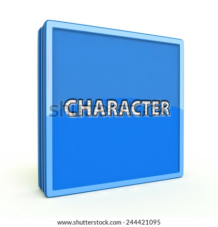 Character square icon on white background
