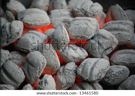 Charcoal Heat - stock photo