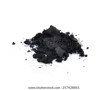 charcoal on a white background - stock photo