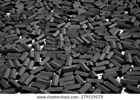 charcoal pack bar made from coconut shell background