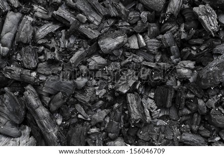 Charcoal texture - stock photo