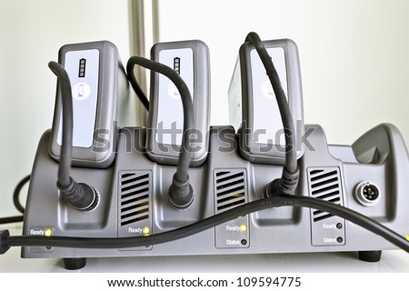 Charger for specialized batteries. - stock photo