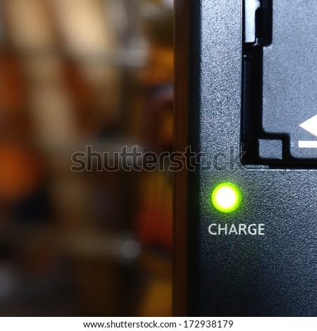 Charging a device. - stock photo
