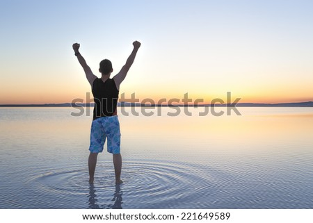 Charging for a new day - stock photo