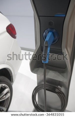 Charging station for electric vehicles - stock photo