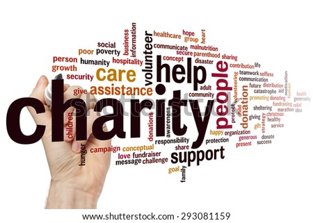 Charity concept word cloud background - stock photo