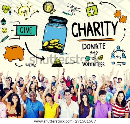 Charity Donate Help Give Saving Sharing Support Volunteer Concept - stock photo
