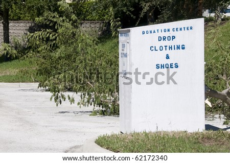 Charity Drop Box with space for your text - stock photo