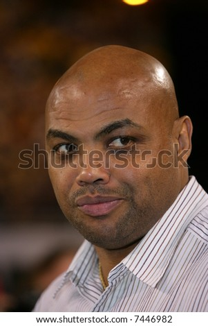 Charles Barkley at the football game