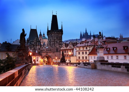 Charles Bridge in Prague - stock photo