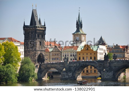 Charles Bridge in Prague (Czech Republic)