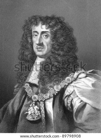 Charles II (1630-1685). Engraved by W.Holl and published in The History of England, United Kingdom, 1859.