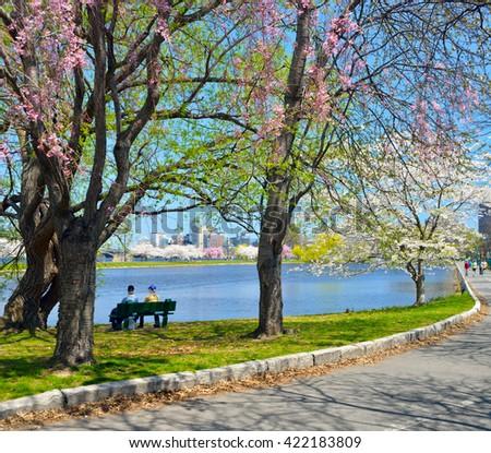 Charles River Esplanade - stock photo