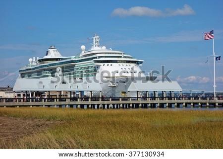 Charleston Sc October Cruise Stock Photo - Charleston sc cruise port