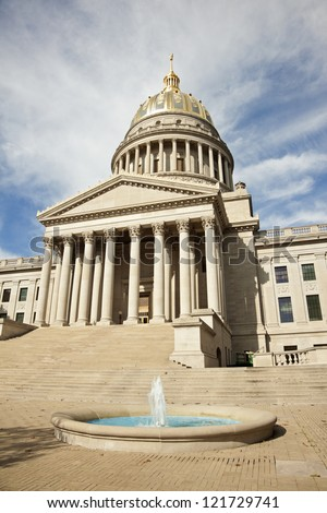 Charleston, West Virginia - State Capitol Building. - stock photo