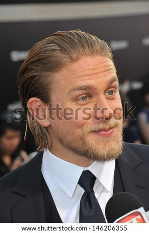 Charlie Hunnam at the premiere of his new movie Pacific Rim at the Dolby Theatre, Hollywood. July 9, 2013  Los Angeles, CA