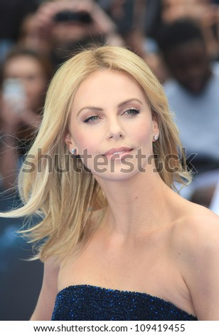 Charlize Theron arriving for the World Premiere of Prometheus, Empire Cinema in Leicester Square. 31/05/2012 Picture by: Henry Harris / Featureflash - stock photo