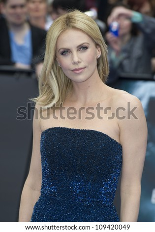 Charlize Theron arriving for the World Premiere of Prometheus, Empire Cinema in Leicester Square. 31/05/2012 Picture by: Simon Burchell / Featureflash - stock photo