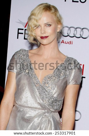"Charlize Theron at the AFI FEST 2009 Screening of ""The Road"" held at the Grauman's Chinese Theater in Hollywood, California, United States on November 4, 2009.  - stock photo"