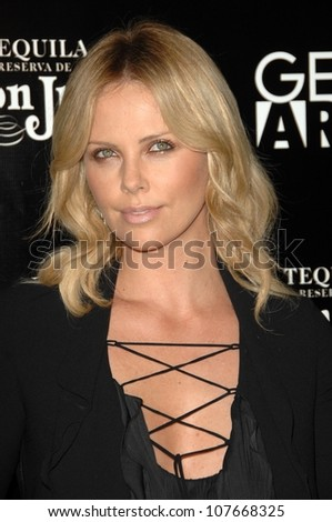 Charlize Theron  at the Los Angeles Premiere of 'Battle in Seattle'. Clarity Theatre, Beverly Hills, CA. 09-22-08 - stock photo
