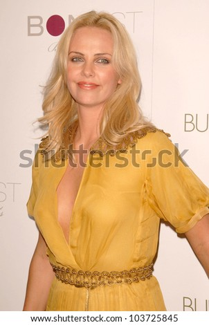 Charlize Theron at the Los Angeles Premiere of 'Burning Plain'. Bond Street, Beverly Hills, CA. 09-14-09 - stock photo