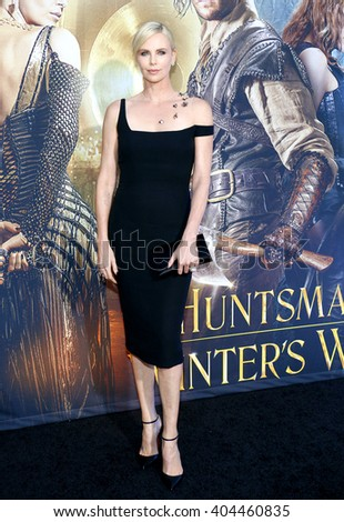 Charlize Theron at the Los Angeles premiere of 'The Huntsman: Winter's War' held at the Regency Village Theatre in Westwood, USA on April 11, 2016. - stock photo