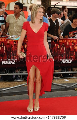 Charlotte Hawkins arriving for the UK Premiere of Red 2, at Empire Leicester Square, London. 22/07/2013 - stock photo