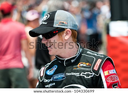 CHARLOTTE, NC - MAY 26:  Cole Whitt  at the Nascar History 300  at Charlotte Motorspeedway in Charlotte, NC on May 26, 2012