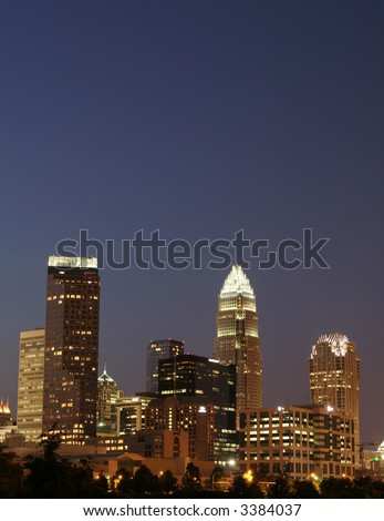 Charlotte NC Skyline - stock photo