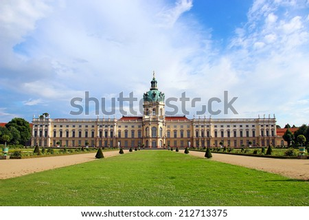 Charlottenburg palace and garden in Berlin, Germany - stock photo