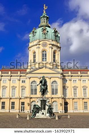 Charlottenburg Palace, famous tourist destination in Berlin, Germany, Schloss Charlottenburg, beliebtes Ausflugsziel in Berlin, Deutschland  - stock photo
