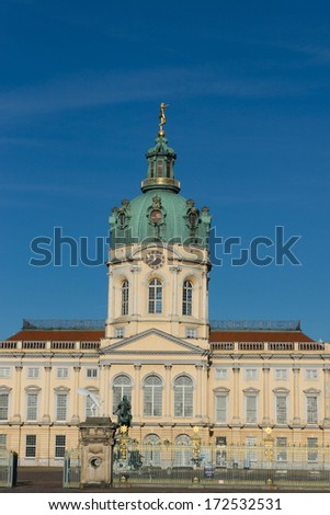 Charlottenburg Palace in Berlin, Germany.