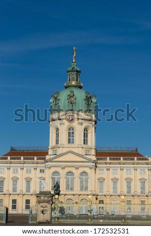 Charlottenburg Palace in Berlin, Germany. - stock photo
