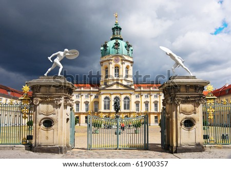 Charlottenburg Palace in Berlin. Germany. - stock photo
