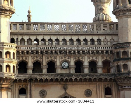 charminar, hyderabad's principal landmark, built in 1591(some noise)