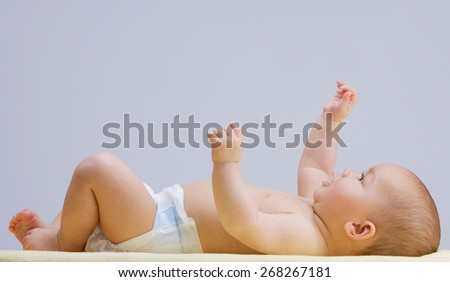Charming baby  - stock photo