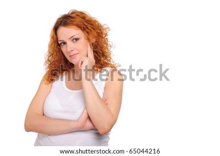 Charming  pregnant mother awaiting the birth of the baby. - stock photo
