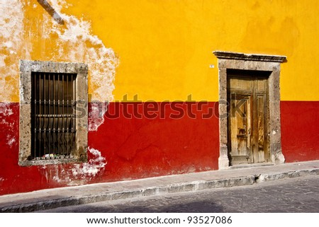 Charming street scenes in historic San Miguel de Allende - stock photo
