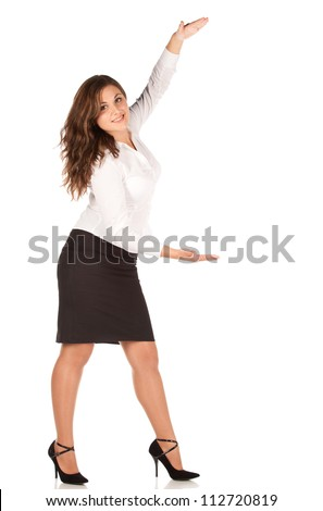 charming young businesswoman isolated on white background
