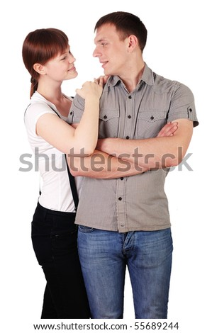 charming young couple in love with each other