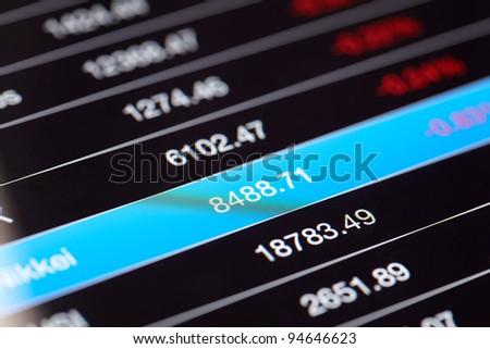 chart - stock photo