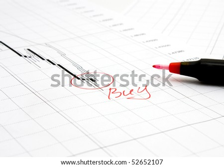 chart and red pen