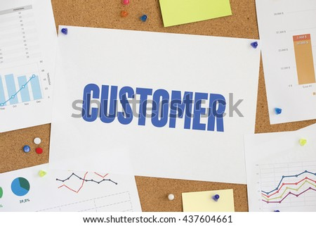 CHART BUSINESS GRAPH RESULT COMPANY CUSTOMER CONCEPT - stock photo